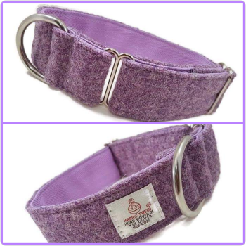 "1.5"" Lilac Harris Tweed House Collar"