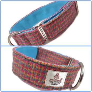 "1.5"" Rainbow Houndstooth Harris Tweed House Collar"