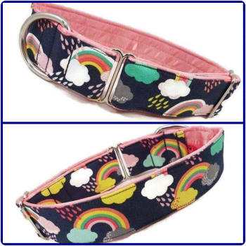 "1.5"" Fantasy Rainbows House/Tag Collar"