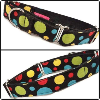 "1"" Spotty Dotty Whippet Martingale Collar"