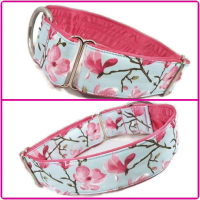 "1.5"" Blue Blooms House/Tag Collar"