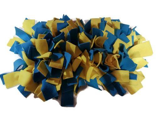 Yellow and Turquoise Mini Fleecy Forage Treat Mat
