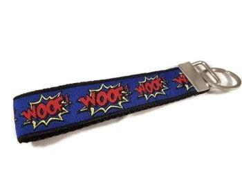 Royal Blue Woof Keyfob