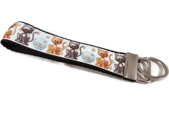 Black and Ginger Cats Keyfob
