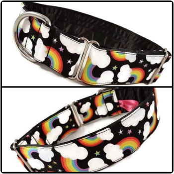 "1.5"" Rainbow Stars House/Tag Collar"