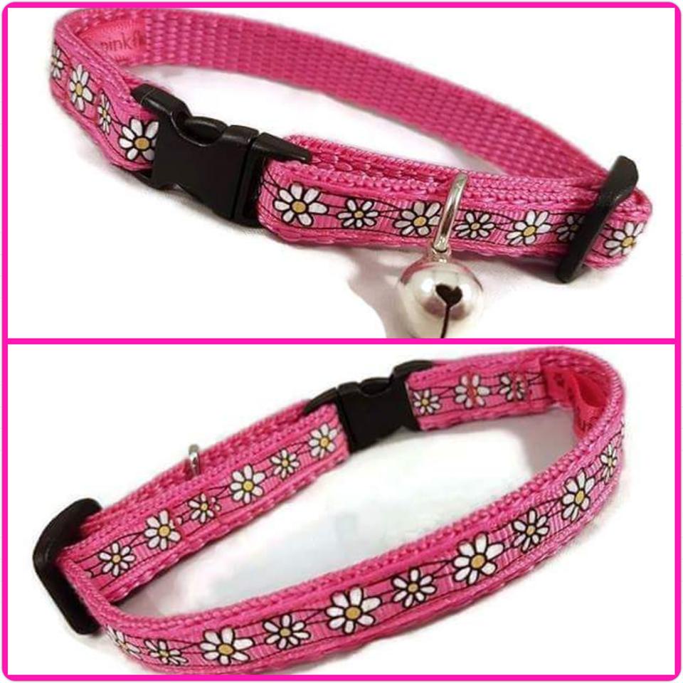 Pink Daisies Cat Collar