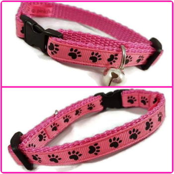 Pink Paws Cat Collar