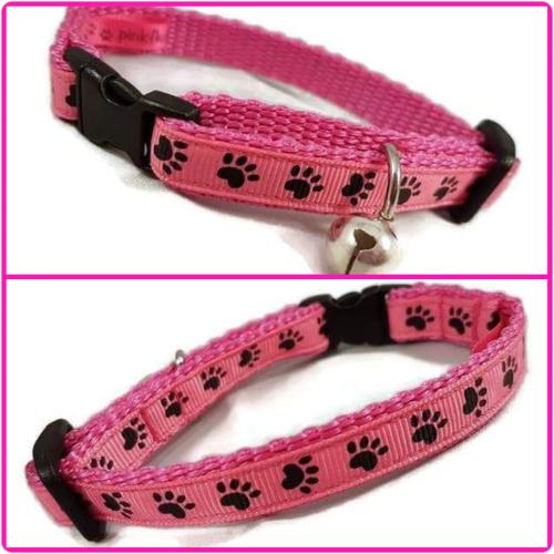Pink Paws Cat Collar