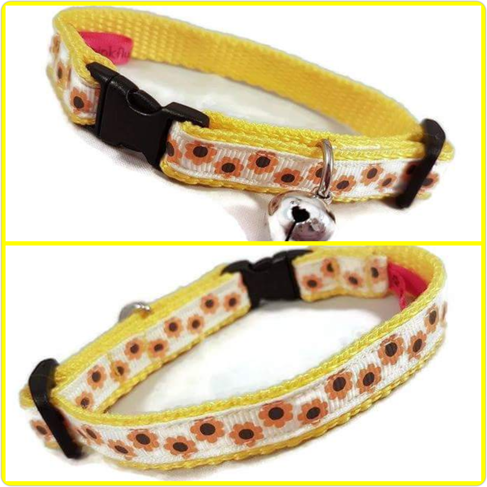Sunflowers Cat Collar