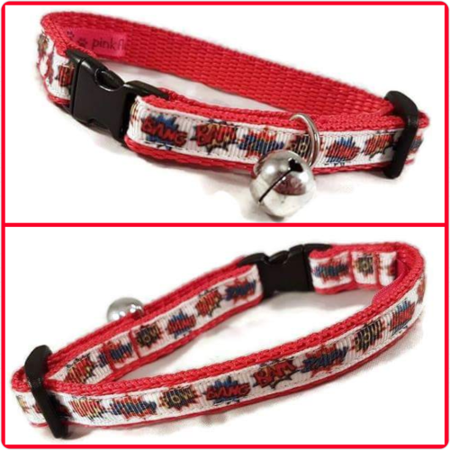 Red Pow Cat Collar