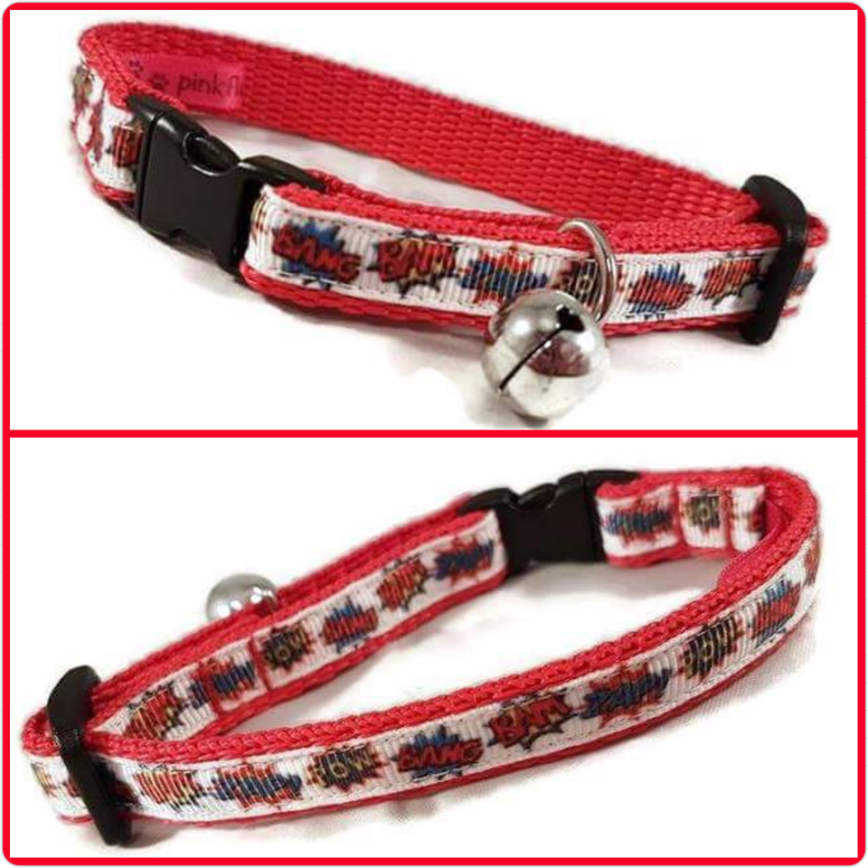 Red Pow Cat Collar