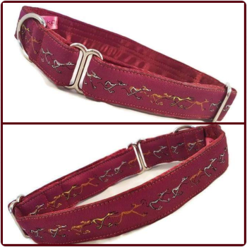 "1"" Plum Nellie Doodles House/Tag Collar"