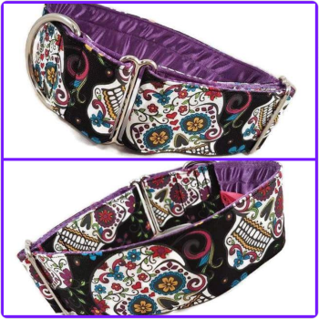 "2"" Large Sugar Skulls House Collar"