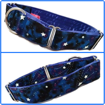 Glow in the Dark Galaxy Martingale Collar