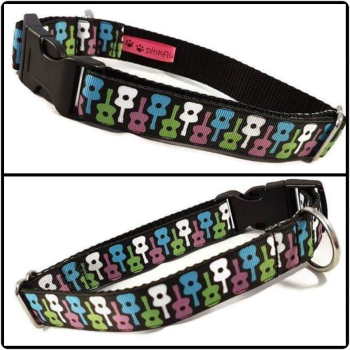 "1"" Guitars Clip Dog Collar"