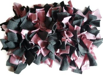 Grey and Pink Stars Mini Fleecy Forage Treat Mat