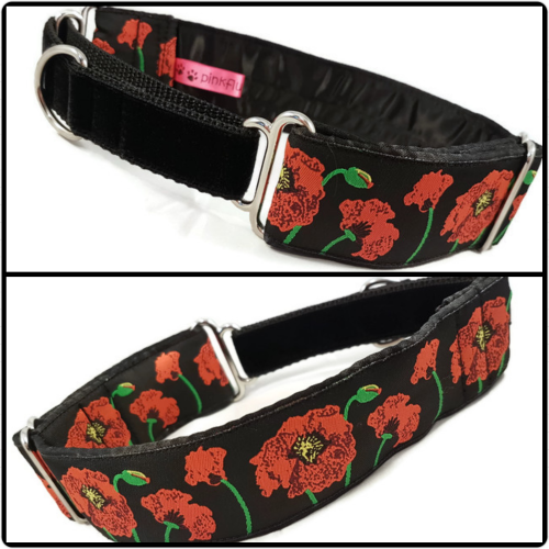 Woven Poppies Jacquard Martingale Collar
