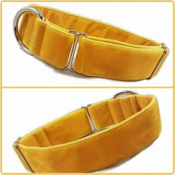 "1.5"" Gold Double Swiss Velvet House Collar"