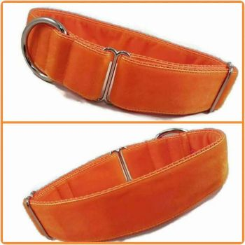 "1.5"" Orange Double Swiss Velvet House Collar"