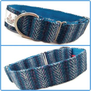 "1.5"" Blue Chevrons Harris Tweed House Collar"
