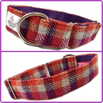 "1.5"" Autumnal Check Harris Tweed House Collar"