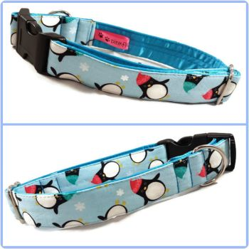 "1"" Fat Penguins Satin Lined Clip Collar"