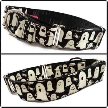 Glow in the Dark Ghosts Martingale Collar