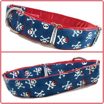 Blue Pirates Martingale Collar