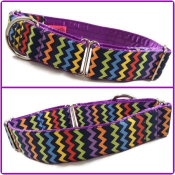 Bright Chevrons Martingale Collar