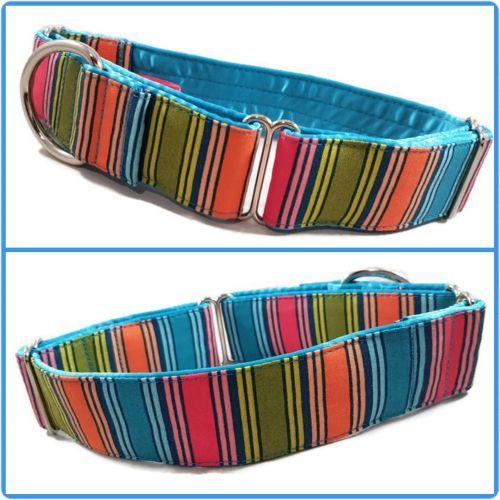 Multi Stripe Martingale Collar