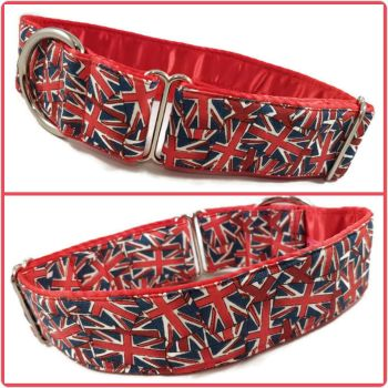 "1.5"" Mini Union Jack House/Tag Collar"