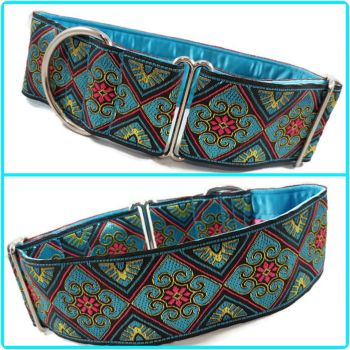 "2"" Turquoise Jacquard House Collar"