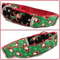 Santa's Little Helper Two-Tone Martingale Collar