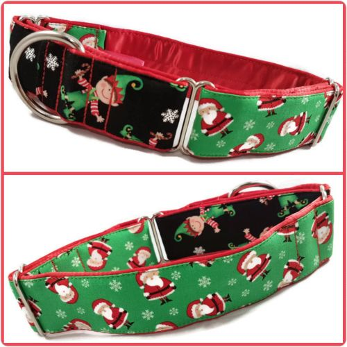Santa's Little Helper Two-Tone Martingale Collar