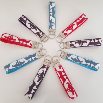 Sitting Hound Keyfobs **Made to order**