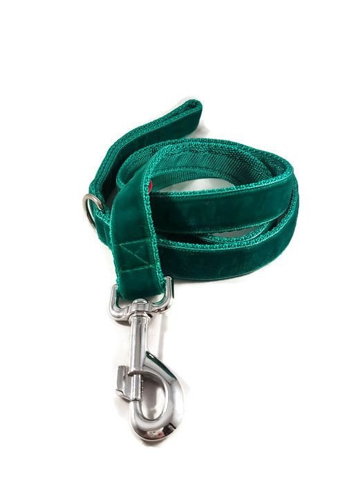 4ft Emerald Green Velvet Dog Lead