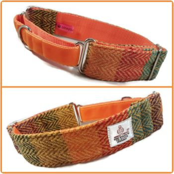 "1.5"" Multi Stripes Harris Tweed Martingale Collar"