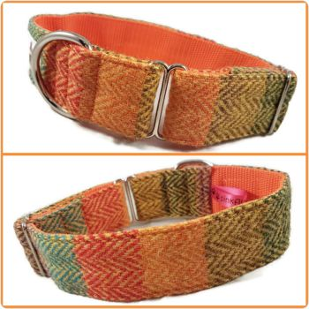"1.5"" Multi Stripes Harris Tweed House Collar"
