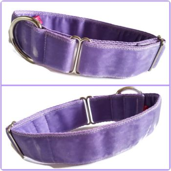 "1.5"" Lilac Double Swiss Velvet House Collar"