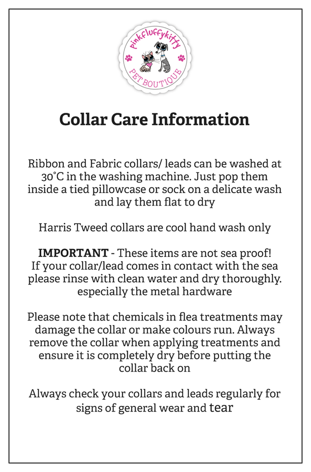 Collar Care Information