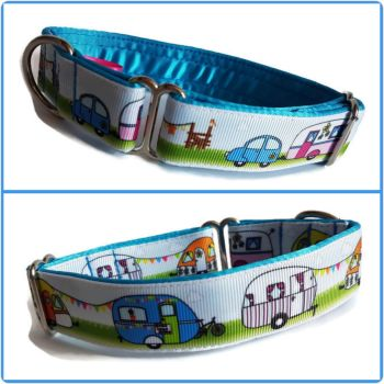 "1"" Cute Caravans Whippet House Collar"