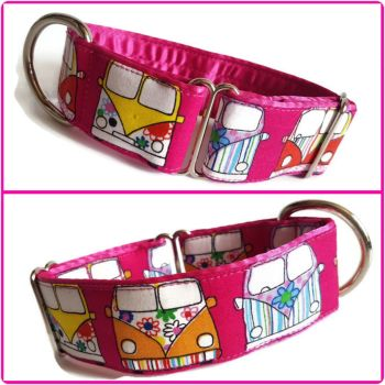 "1.5"" Pink Campers Whippet House Collar"