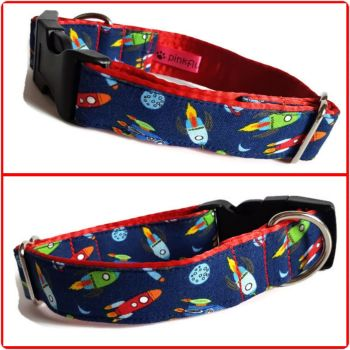 "1"" Mini Rockets Small Clip Dog Collar"
