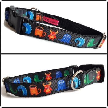 """1"""" Monsters Clip Dog Collar"""