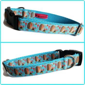 "1"" Hedgehogs Clip Dog Collar"