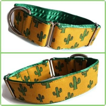 "1.5"" Cactus Whippet House Collar"