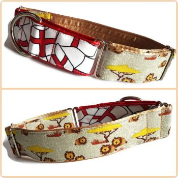 Tree Lions Two-Tone Martingale Collar