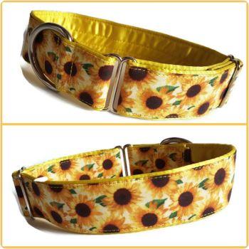 "1.5"" Sunflowers House/Tag Collar"