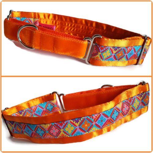 Orange Geometric Jacquard Half Martingale Collar