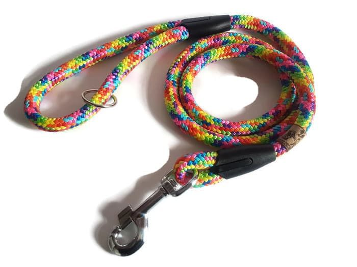 4ft 'Rainbow' Braided Rope Clip Lead